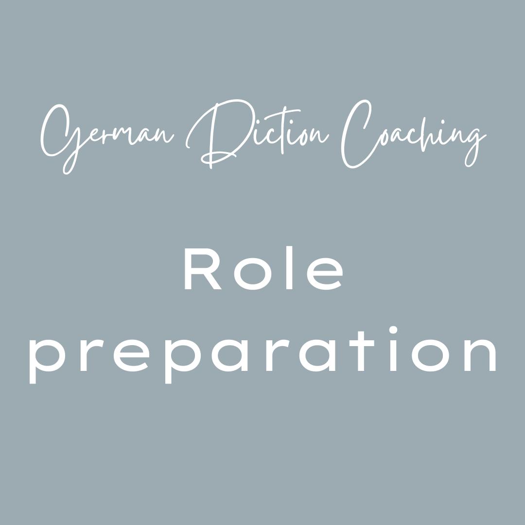 German diction coaching role preparation